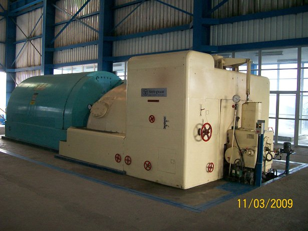 25 mw steam turbine generador (utilizado)