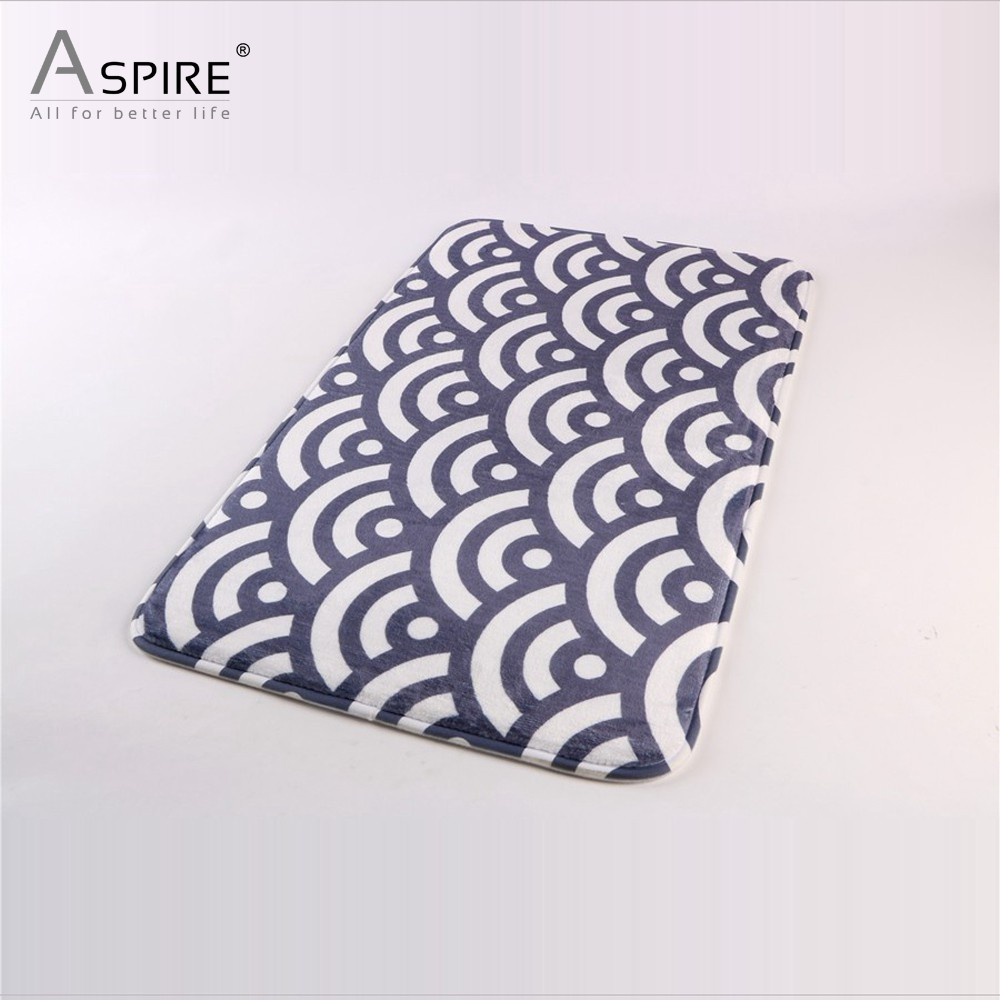 Hotel Heated Anti-slip Bathroom Rugs Bath Mat