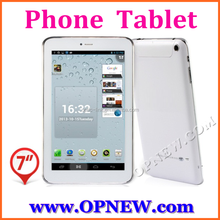 Hot selling 7 inch phablet GSM phone tablet pc android 4.4 kitkat Quad core mini pc 4 bands 3G calling