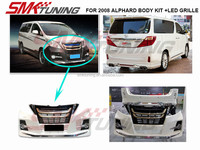 2008 TOYOTA ALPHARD BODY KIT WITH LED,FOR 08 ALPHARD TO UPGRADE 15 MODEL S DESIGN,FRONT BUMPER ,SIDE PANEL ,REAR BUMPER ,GRILLE