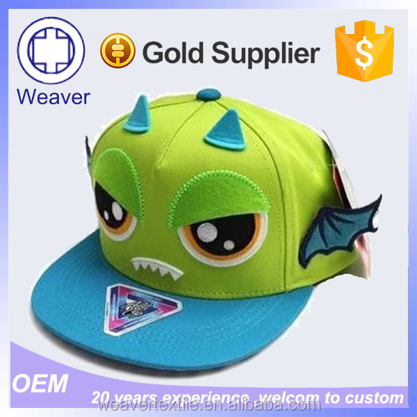 Fashion 5 Panel Embroidery Children Hat / Baby Hat Snapback Cap