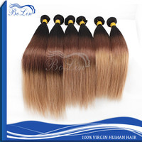 Wholesale Cheap Virgin Natural Silky Straight Wave Hair Bundles Remy Brazilian Hair Weave Ombre Hair Extension 1B 33 27 Color