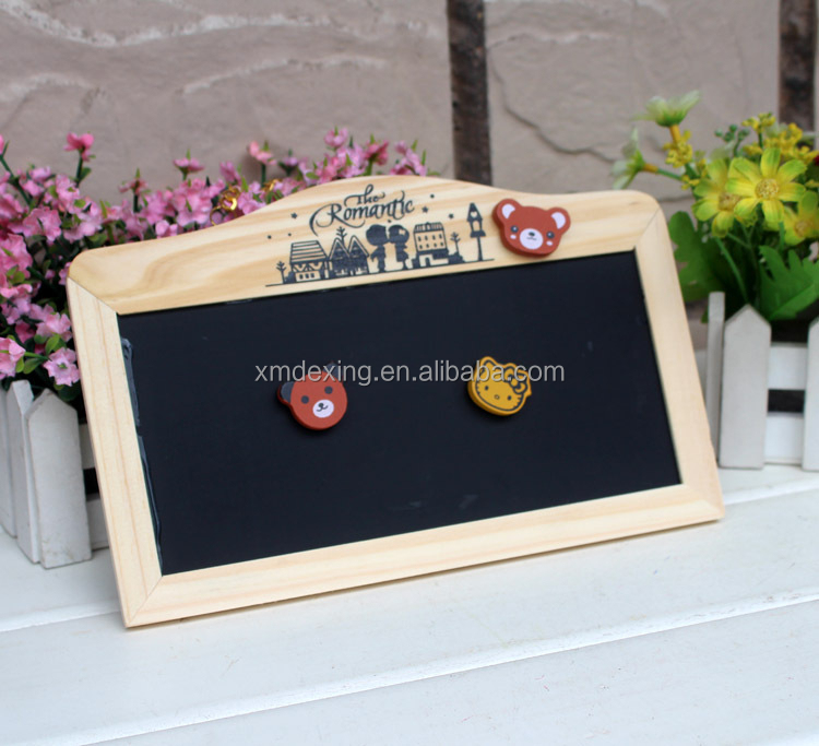 Creative Magnetic Writing Board/Magnetic Message Board/Two Sides Magnetic Memo Board with Chalks and Marker Pen