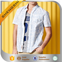 International pattern kemeja branded mens casual shirts slim fit mens dress shirt
