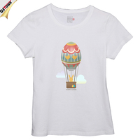 Short Sleeve 100% Cotton Easter Day Woman Printed T Shirts