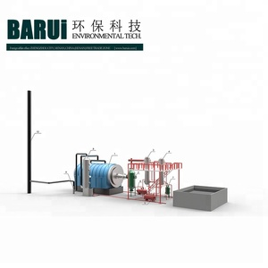 wastes recycling unit vacuum pyrolysis machine of converting diesel