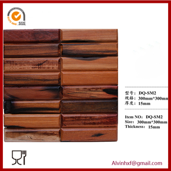 Wood Mosaic,Cube Mosaic Tile,Mosaic Wall Panels