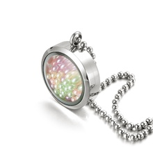 Most popular stainless steel memory floating glass frame thickened pearl locket