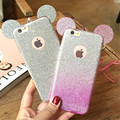 For iPhone 7 5s 6 6s plus Bling Glitter Minnie Mickey Ears Soft TPU Case Transparent Phone Cover
