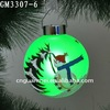 Best blown hand painted glass christmas tree color changed led globe