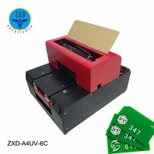 New Model A4 size flatbed uv printer,Digital plastic business card printing machine price