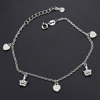 simple In bulk factory sterling silver bracelet women silver bracelet with hearts