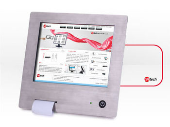 "10"" stainless steel Touchscreen PC with integrated printer"