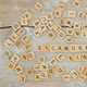 custom wood game tiles, wood scrabble tiles alphabetic letters for crafts