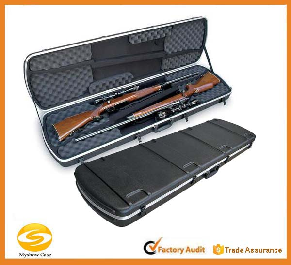 Molded High-density polyethylene plastic Double Rifle/Shotgun Case,Rifle gun case