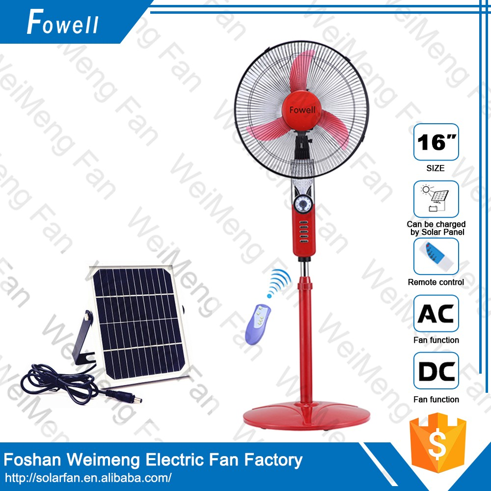 Ten-Year-Factory Hot Selling Brand 16 Inch Electric Solar Rechargeable Stand Fan
