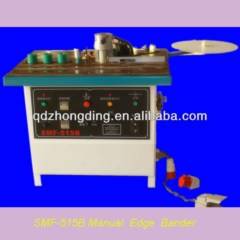 Double side gluing manual edge banding machine