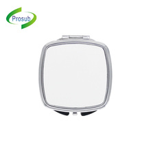 Diy Portable Foldable Compact Metal Make Up Pocket Sublimation Blank Cosmetic Mirror