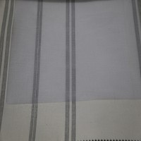 Wholesale modern bedroom vertical stripe tulle chiffon curtain fabric with lead line