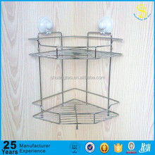 Hot sale low price hot stainless steel bathroom corner rack, iron wire bathroom shelves, bathroom hanging wall shower shelves