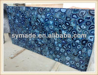 nature semi precious gemstone custome agate blue agate countertop