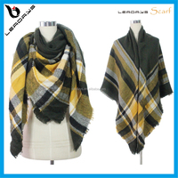 Autumn Winter New Ladies Plaid Square