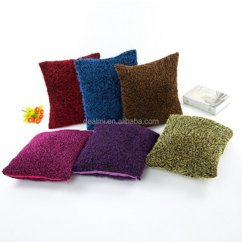 DEMIZXX834 Wholesale Factory Custom Plush Material Colorful Free Shipping Square Shape Home Using Products Pillow Case Cover