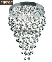 Modern Popular Stairwell Staircase Crystal Pendant Hanging Chandeliers Lamp Light Lighting CZ8150/12