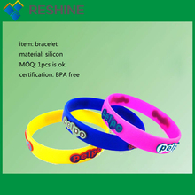 Factory sale custom printing silicon wristbands