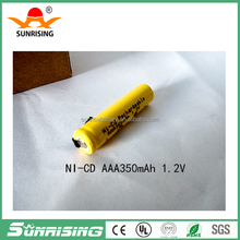 Sunrising NICD AAA Battery NI-CD AAA350mAh rechargeable battery for electric toys