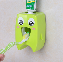 Baby Toothbrush Dispensers ,kids Hands Free Toothpaste Dispenser children Automatic Cartoon Cute Toothpaste Squeezer Good Gift