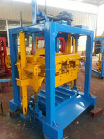 QTJ4-35B2 simple machine for concrete blocks/hollow block production line/brick production line easy operation