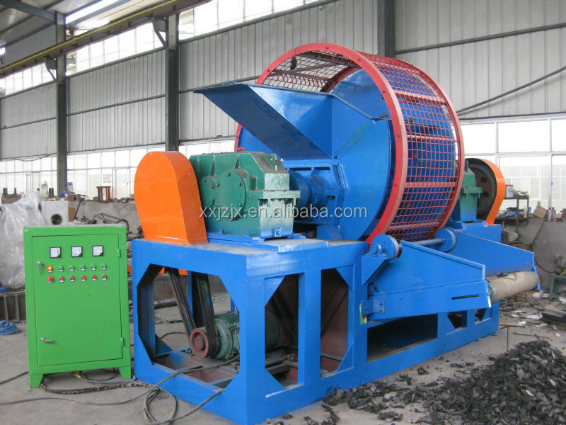 Tyre processing machine rubber mill for rubber granule