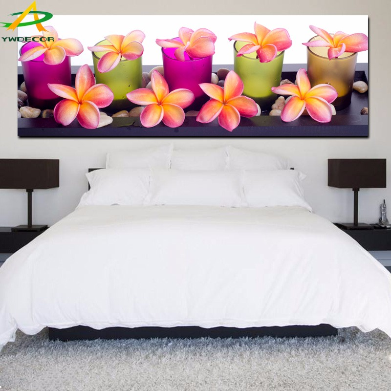 LED Canvas Paintings Art Flower Wall Picture With LED Lights