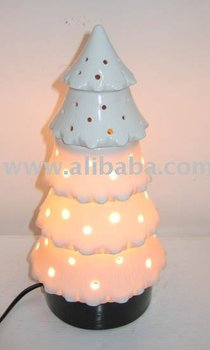 Pine Tree Electric Lamp