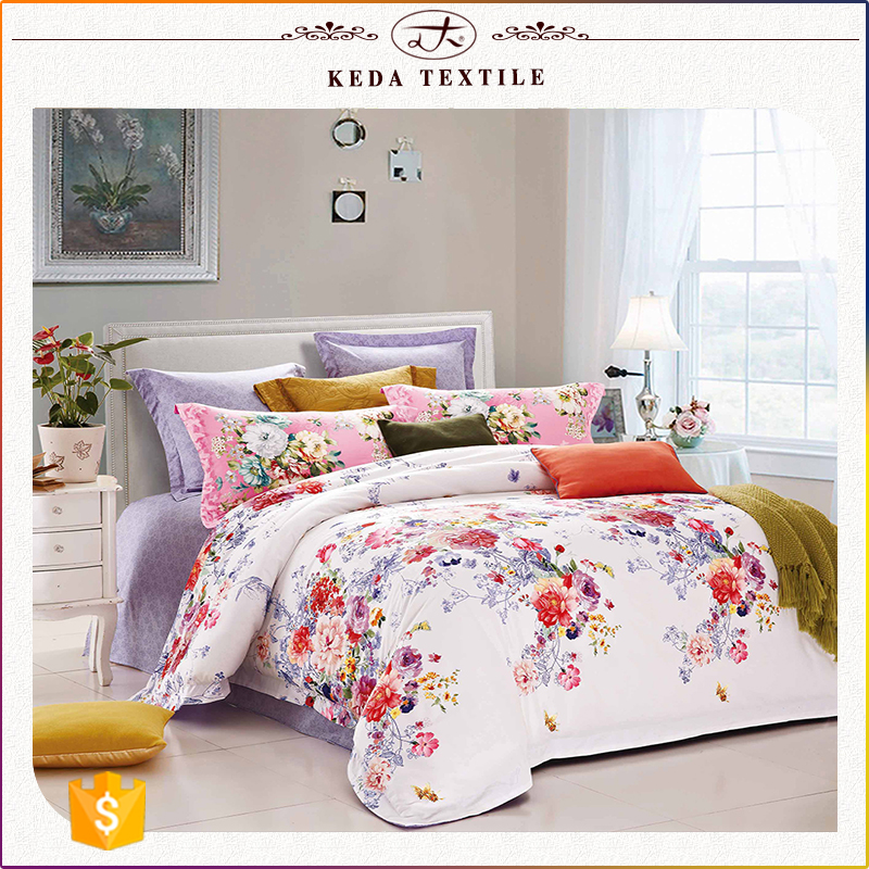 Twin queen king size bedsheet made in China hot selling 100% cotton duvet bedding set