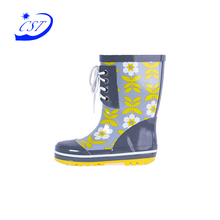 Fashion durable boot fasion children rubber waterproof kids camo rain boots