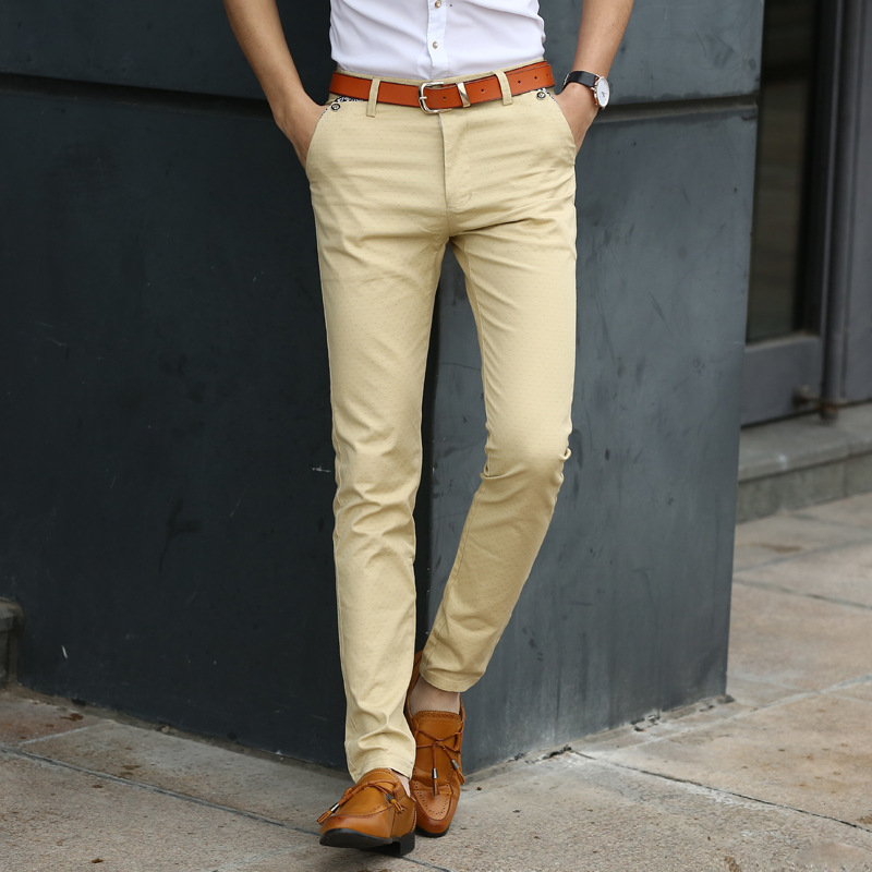 Z91435A Autumn Mens Skinny Formal Pants Trousers Made In China