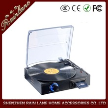 Rain Lane Electric Retro Portable Turntable with cassette player