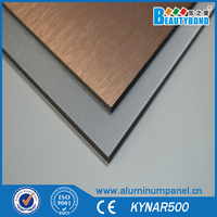 4*8feet aluminium plastic composite panel 3-5mm thickness different thickness acp 2013 new building construction materials