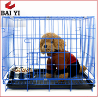 In Door Welded Wire Mesh Foldable Dog Kennel / Crates