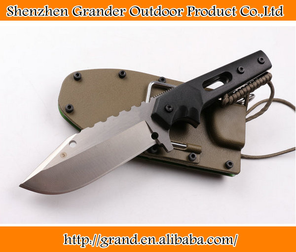 black <strong>g10</strong> handle outdoor straight knife fixed blade camping knives hunting tool 6569