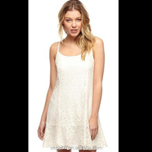Ladies Smart Casual Dress Summer New Model Dress 2014 Sexy Lace White Dress