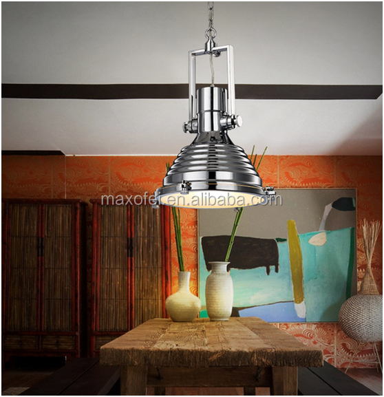 Large hanging lights industrial loft iron ceiling <strong>lamp</strong> for living room/hotel
