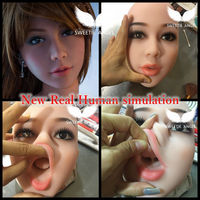 Oral sex doll head WMDOLL real human simulation oral silicone adult dolls heads with tongue