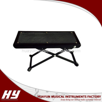 Foldable comfortable guitar use footstool/ foot pedal
