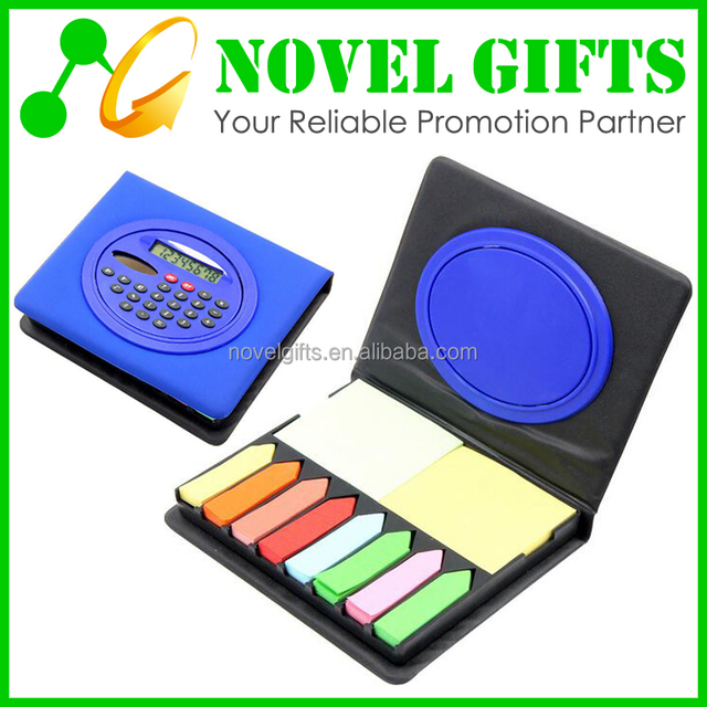 Promotion Gift Solar Calculator with Memo Pad Notepad