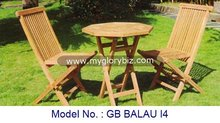 Foldable Garden Set In Teak Wood, Outdoor Furniture Chairs With Table, Classic Outdoor Garden Set Furniture