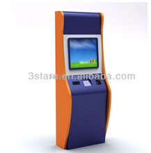 Self service mobile charge card despenser vending machine/top up machine kiosk