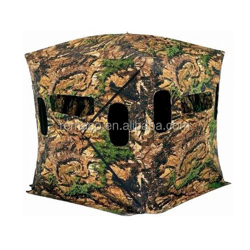 Hub System Hunting Blinds Camouflage Shelter Steady Pop-up Hunting Tent with Window GB8255